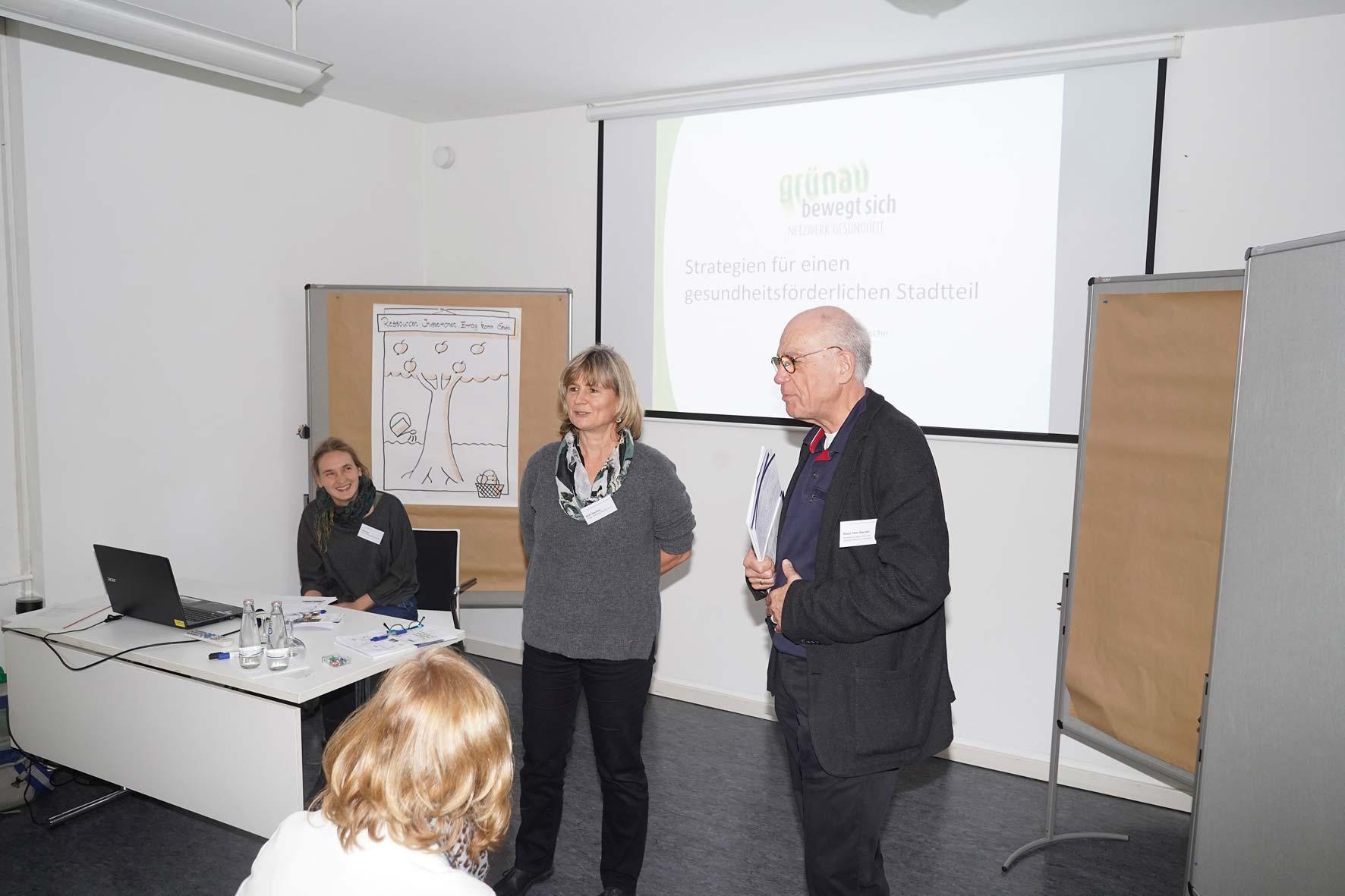 Ulrike Igel, Ruth Gausche und Klaus-Peter Stender