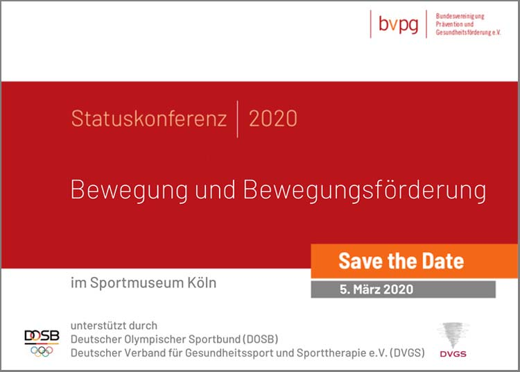 Save the Date Grafik zur BVPG Statuskonferenz 2020
